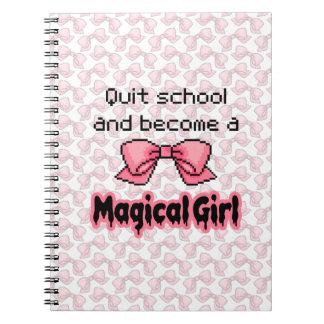 la escuela abandonada kawaii siente bien a un chic note book