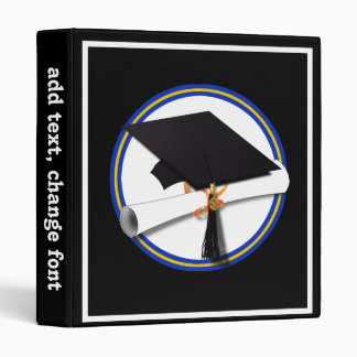 "La escuela colorea el casquillo w/Diploma del Carpeta 1"""