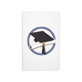 La escuela colorea el casquillo w/Diploma del Cuaderno Grapado