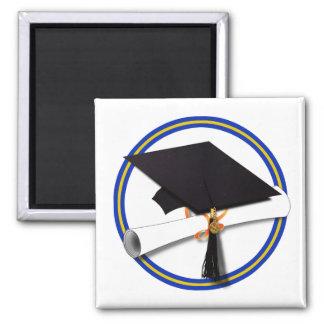 La escuela colorea el casquillo w/Diploma del Imanes