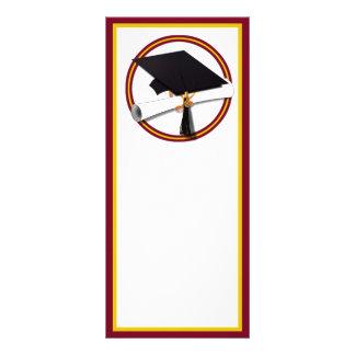 La escuela colorea el oro y el rojo para el tarjetas publicitarias a todo color