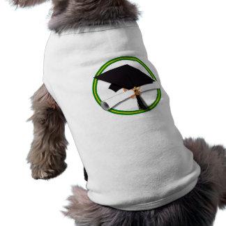 La escuela colorea el verde y el casquillo playera sin mangas para perro