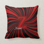 La escuela colorea la almohada Z Rojo-Negro del mo