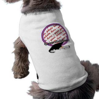 La escuela colorea púrpura y el marco de la playera sin mangas para perro