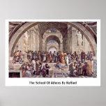 La escuela de Atenas de Raffael Poster