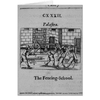 La escuela de cercado tarjeta de felicitación