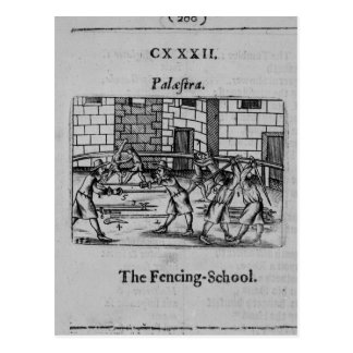 La escuela de cercado tarjetas postales