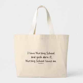 La escuela de enfermería me ama bolsas