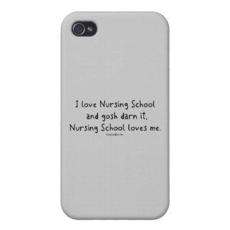 La escuela de enfermería me ama iPhone 4 cárcasas