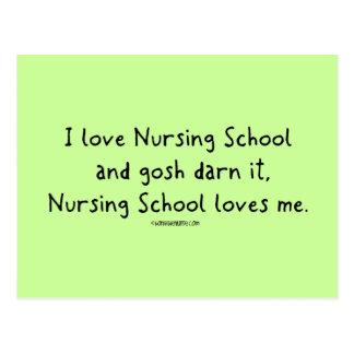 La escuela de enfermería me ama postal