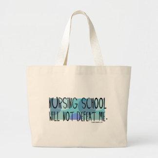 La escuela de enfermería no me derrotará bolsa tela grande