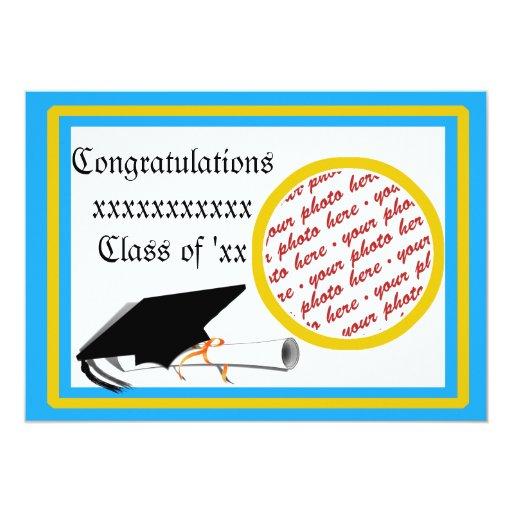 """La escuela de la graduación colorea a Lt. Marco Invitación 5"""" X 7"""""""