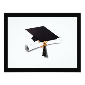 La escuela de la graduación colorea blanco y negro invitación 10,8 x 13,9 cm