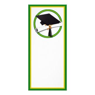 La escuela de la graduación colorea el oro y el lonas personalizadas