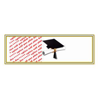 La escuela de la graduación colorea negro y el tarjetas de visita mini