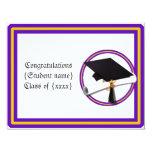 La escuela de la graduación colorea púrpura y el invitación 10,8 x 13,9 cm