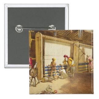 La escuela de la industria, Jubbulpore, 1863 del g Pin Cuadrada 5 Cm