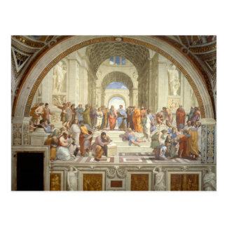 La escuela de Raphael de Atenas Postal