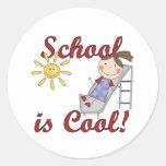 La escuela del chica es camisetas y regalos fresco pegatina