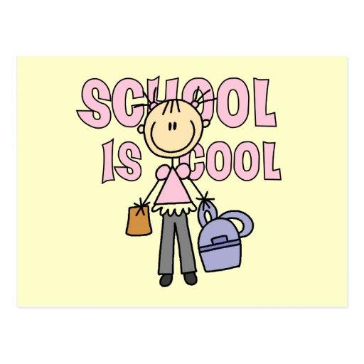 La escuela del chica es fresca postales