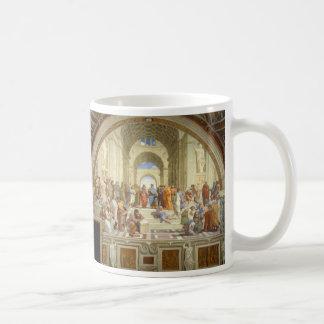La escuela del fresco de Atenas de Raffaello Taza Clásica