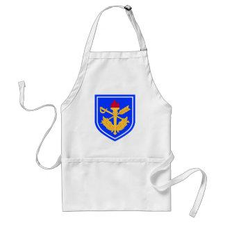 la escuela del general del fiscal militar delantal