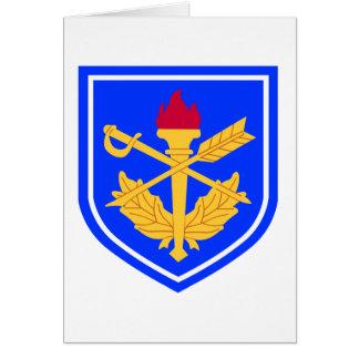 la escuela del general del fiscal militar tarjeta de felicitación