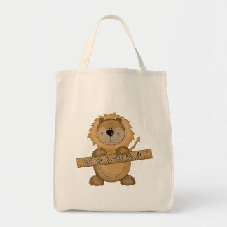 La escuela del león gobierna las camisetas y los bolsas
