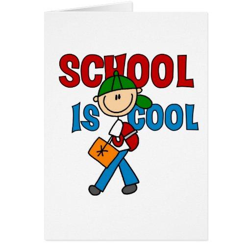 La escuela del muchacho es fresca tarjeta de felicitación