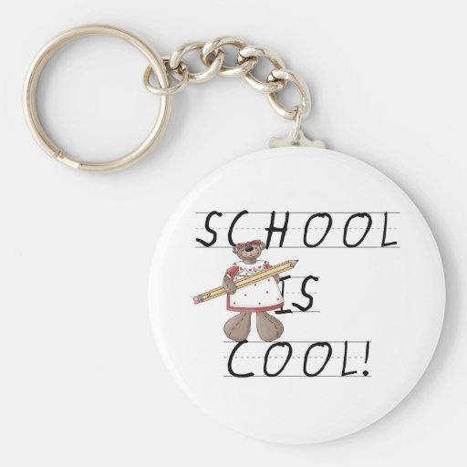 La escuela del oso de peluche es fresca llaveros personalizados