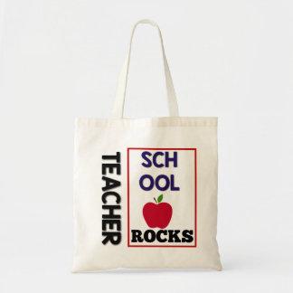 La escuela del profesor oscila la bolsa de asas
