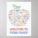 La escuela Doodles el poster de Apple de los profe