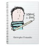 La escuela es cuaderno personalizado fresco