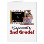 La escuela es especialmente 2do grado fresco tarjeta de felicitación