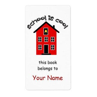 La escuela es etiqueta fresca del Bookplate Etiqueta De Envío