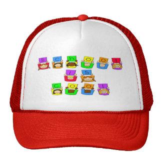 La escuela es fresca - los niños gorras de camionero