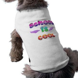 La escuela es fresca - paz playera sin mangas para perro