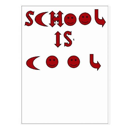 La escuela es postal fresca