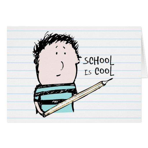 La escuela es tarjeta de felicitación fresca
