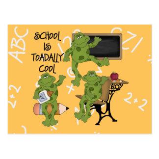 La escuela es Toadally fresco Tarjetas Postales