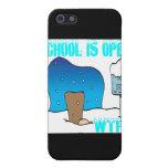 La escuela está abierta iPhone 5 protectores