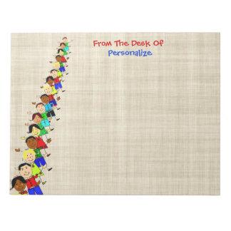 La escuela linda embroma el ejemplo para la libret bloc de papel