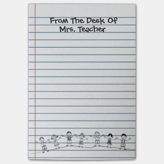 La escuela linda embroma post-it del profesor post-it® notas