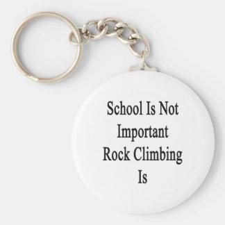 La escuela no es escalada importante es llaveros