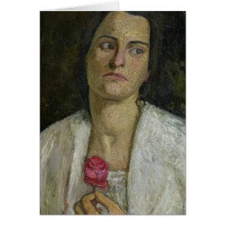 La escultora Clara Rilke-Westhoff 1905 Tarjeta De Felicitación