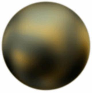 La escultura de la foto de Plutón del planeta Fotoescultura Vertical