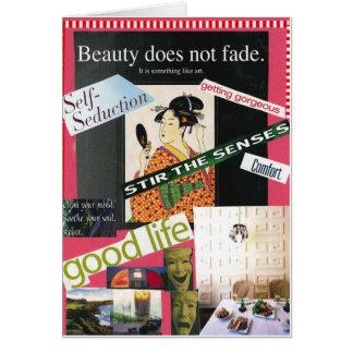 La esencia de la belleza tarjeta de felicitación