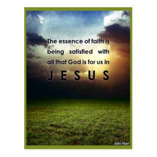 La esencia de la fe postal
