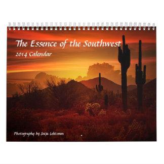 La esencia del sudoeste calendario de pared