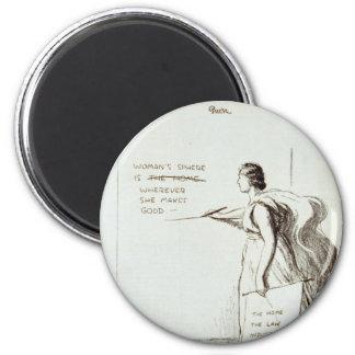 La esfera de las mujeres revisada imán redondo 5 cm
